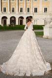 Hochzeits-Kleid der Angelia Prinzessin-Half Sleeve Champagne