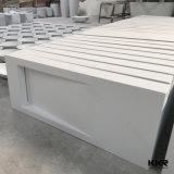 Weiße feste Oberflächenacrylsteinbadezimmer-Wanne