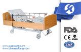 塗られた木のHead&のフット・ボードが付いている病院の電気ベッド