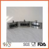 Wsjjyy040 Nuevo acero inoxidable 3 piezas de frasco de cadera metal frasco de cadera conjunto