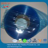 Bruderhao-blaue doppelte gewellte Plastikstreifen-Vorhang-Tür