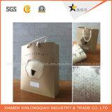 Liberare il sacchetto stampato abitudine riciclabile poco costosa della carta kraft di disegno