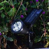 4 Lampen van de Lichten van de Decoratie van de Werf van het Landschap van de Tuin van de LEIDENE de ZonneSchijnwerper van de Lamp Zonne Aangedreven Waterdichte Openlucht