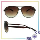 Lunettes de soleil neuves de bras en métal de lunettes de soleil de femmes de plot réflectorisé de cru de mode