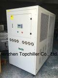 refroidisseur d'eau 55kw (15TR) refroidi à l'air avec l'interpréteur de commandes interactif et l'échangeur de chaleur de tube
