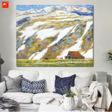 Stampa della tela di canapa della campagna del fumetto della maschera della parete della montagna della neve