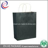 Saco de papel luxuoso recicl do presente do saco liso do papel de embalagem do punho