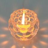 Support de bougie de verre cristal de forme de cuvette pour la décoration