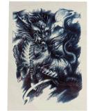 El fuego Kirin diseña la etiqueta engomada temporal impermeable del tatuaje
