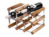 Sostenedor de madera del vino de madera sólida del estante del vino de 9 botellas
