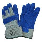Gants fonctionnants coupés de protection résistante de main de cuir fendu de peau de vache de la CE En388