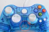 Dual Vibration Wired Transparent Flash Game Controller para xBox360