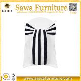 A cadeira branca extravagante do laço do projeto cobre faixas para a venda