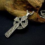 Acier inoxydable pendant des accessoires de mode de collier en travers gothique 316L