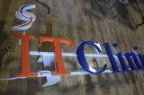 Cartas de canal puestas a contraluz iluminadas halo de DIY 3D LED para la muestra del departamento
