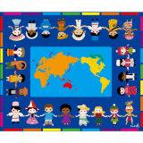 Bambini che imparano la stuoia allegra del pavimento di ABC