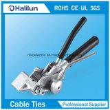 304 serres-câble verrouillés d'acier inoxydable de bille enduite de PVC