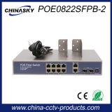 2 Opstraalverbinding Gigabit en 2 Gigabit SFP Ethernet Poe Schakelaar (poe0822sfpb-2)