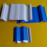 Feuille ondulée de toiture de construction de matériau de polycarbonate UV puissant d'espace libre