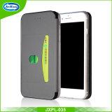 Caixa de couro colorida ultra fina magro do telefone móvel do plutônio de 360 TPU para a ranhura para cartão 7 Kickstand do SE 5s 6 do iPhone 5