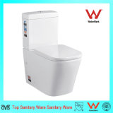Zwei Stücke quadratische Toiletten-Wasserzeichen-