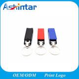 Metalschlüsselring USB-Speicher-Stock-Leder USB Pendrive