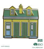家によってカスタマイズされる形Pinのバッジが付いている建物の家デザインバッジ