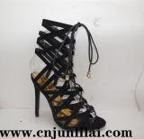Madame Shoes avec le modèle de courroie de mode