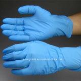 Guanto nero del nitrile con non in polvere per industria