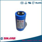 Condensador de comienzo azul de aluminio del motor eléctrico del shell del condensador CD60