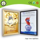 Perfil de aluminio LED del espesor de Edgelight que hace publicidad del rectángulo ligero