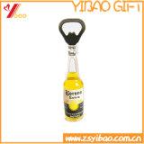 En bois du logo de Customed d'ouvreur de bouteille de traitement en métal (YB-HR-12)