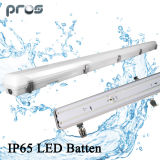 4 Pies IP65 Tri-Proof LED Light Fixture 40W com dispositivo de emergência por 3 anos de garantia