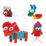 14885507-4 dans les blocs créateurs éducatifs de 1 de bloc changés par animal jouet du nécessaire DIY placer 37PCS (les moutons de souris d'escargot de poulpe)