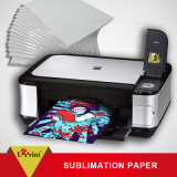 papel do Sublimation da transferência térmica do Sublimation do t-shirt do rolo de 100GSM A4 A3