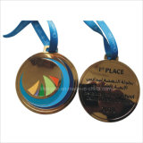 Medalha do metal de Oman com gravura personalizada do logotipo
