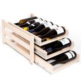 New Arrival Wholesales Wood Wine Display Stand com gaveta Rack