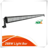 288W Barre à lumière à double rangée, 96 * 3W Creee LED Chip 6500k Pure couleur blanche étanche IP67 approuvé, Ce, RoHS Car Light Bar 4X4 Voitures, Spot, Flood / Combo Light