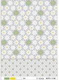Mantel transparente impreso claro del PVC de LFGB popular para el hogar usar