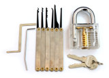 Прозрачный Padlock практики с инструментами 8PC Lockpicking (комбинированные 8-A)