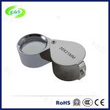 Batteriebetriebenes 30X 2 LED Licht-faltendes Pocket Vergrößerungsglas für Schmucksachen