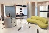現代Receptitionの居間長いファブリックソファのソファー