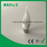 Kerze-Glühlampe 5 Watt-LED mit Aluminium und Plastik