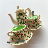 3D中国様式の茶鍋の記念品冷却装置磁石