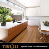 ガラス食器棚のドアの台所家具Tivo-0145V