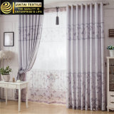 Poliester 100% conjuntos barato grises y blancos de las cortinas