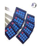 LCDのWindowsが付いている盾または平らなか浮彫りにされた押しボタンのキーパッドの膜スイッチ