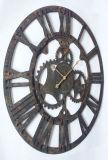 無作法な排気切替器の木の円形のクロック