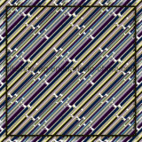 Écharpe de soie de Madame Fashion Printed Custom Satin