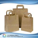 ブラウンクラフト紙の食糧ショッピング包装袋(xc-bgk-016)